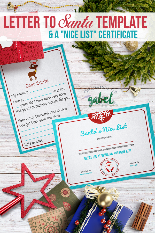Free printable letter to Santa template kids fill in the blanks with ...