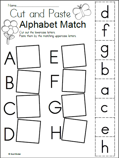 Free Spring Alphabet Worksheet Madebyteachers Letter Worksheets For Preschool Alphabet Worksheets Kindergarten Free Kindergarten Worksheets