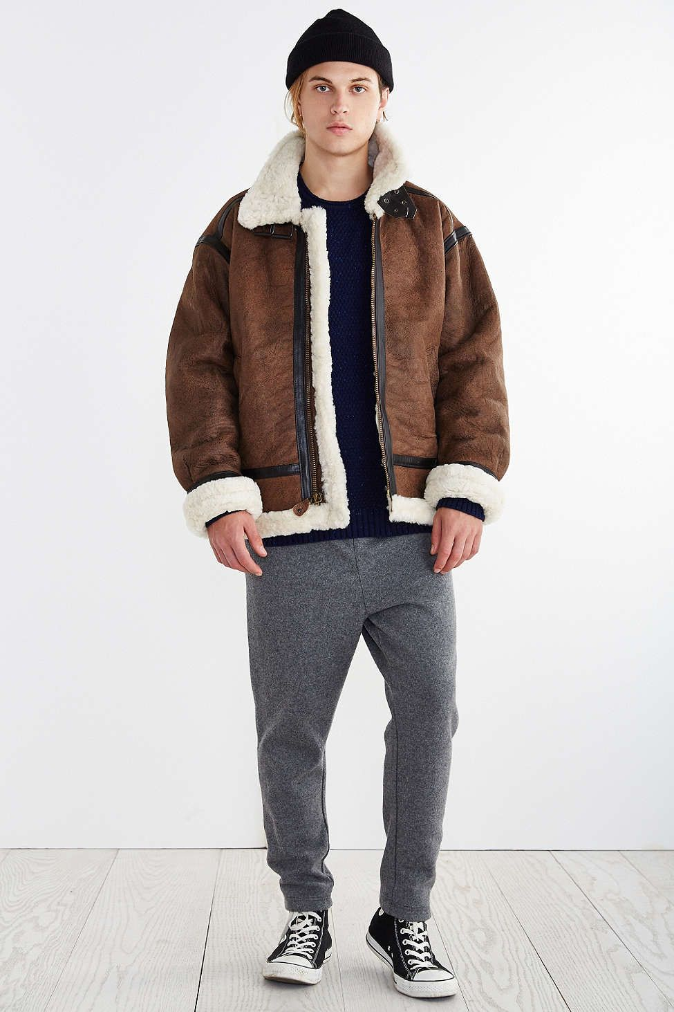 Alpha Industries B-3 Sheepskin Bomber Jacket - Urban Outfitters