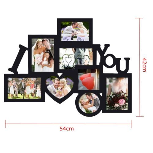 Wooden Love Family Photo Picture Frame Collage Wall Hanging Holder ...