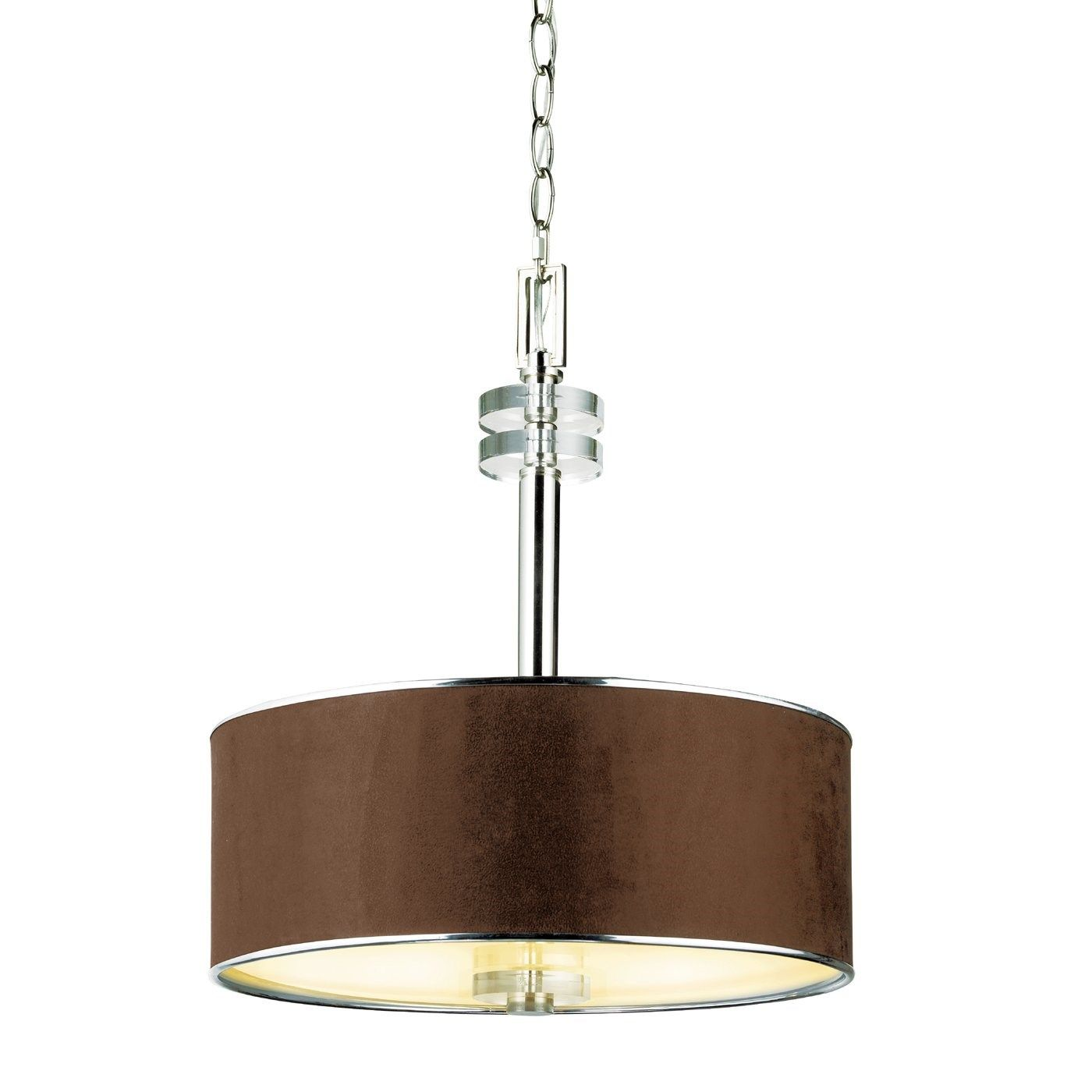 Eurofase 028 Savvy 3 Light Pendant in Satin Nickel