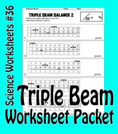 science basics reading a triple beam balance worksheet packet from activitiestoteach on. Black Bedroom Furniture Sets. Home Design Ideas