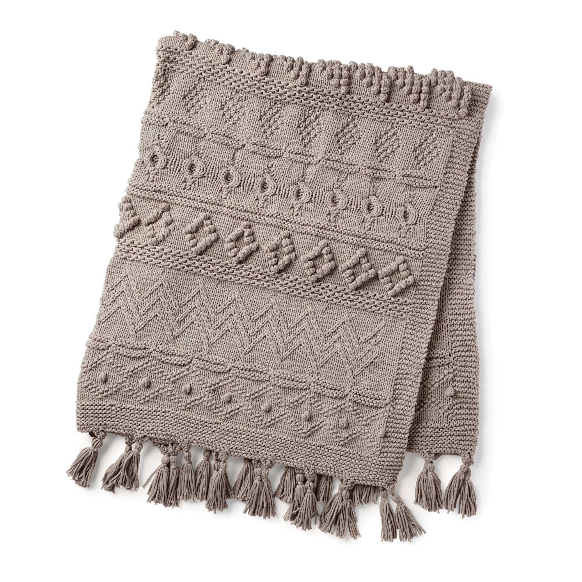 Free Knitting Pattern Made with Bernat Blanket Yarn Easy ...