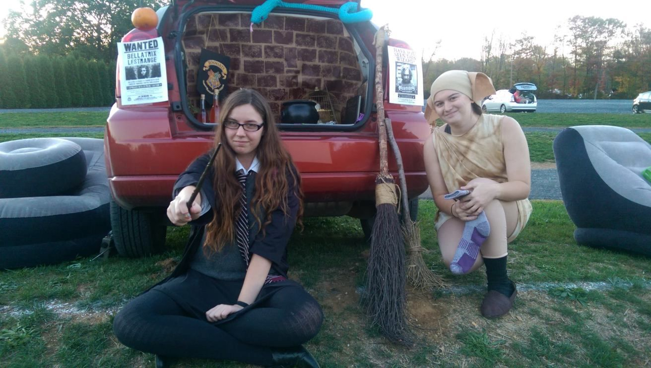 """Trunk-or-treating at our local drive-in movie theater was so much fun! For anyone unfamiliar with the concept of """"trunk-or-treating,"""" it's basically an event where people can deco…"""