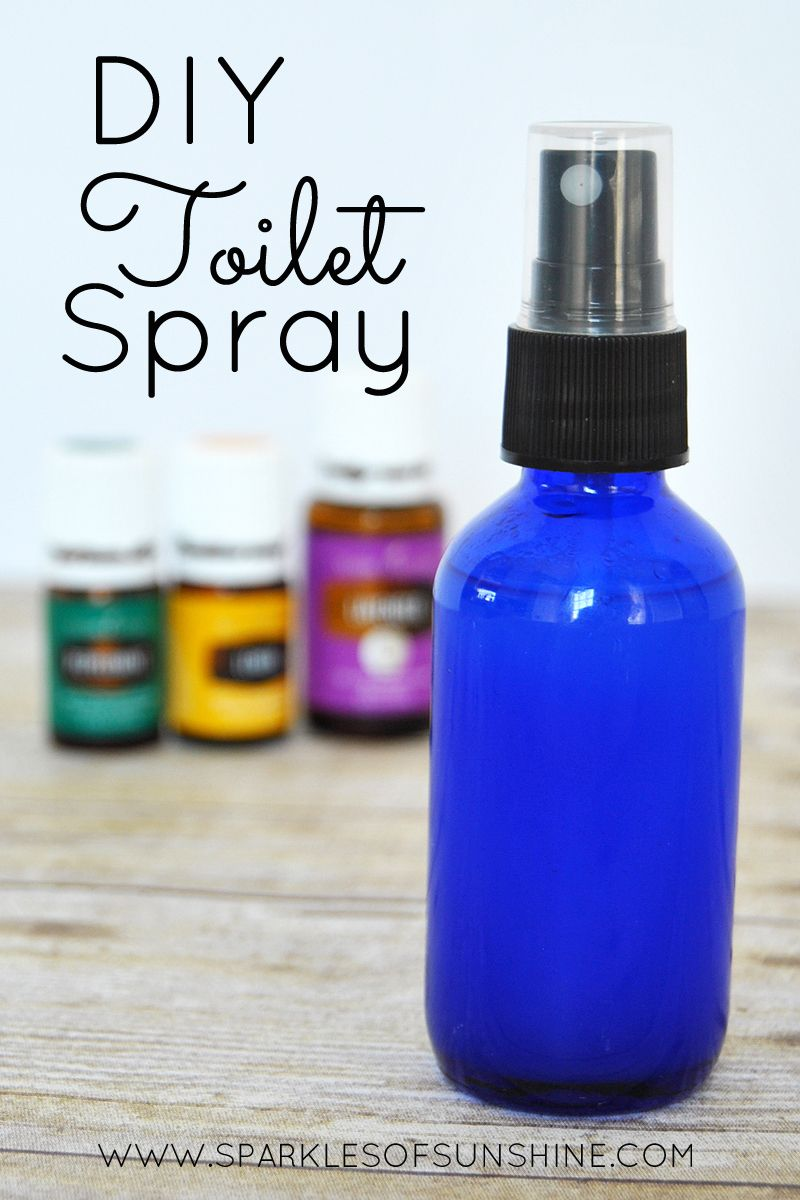 DIY Toilet Spray To Prevent Odor Toilet Sprays And Oil - Bathroom odor spray