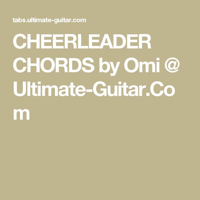 CHEERLEADER CHORDS by Omi @ Ultimate-Guitar.Com | Ukulele ...