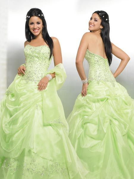 Yellow and silver formal dresses