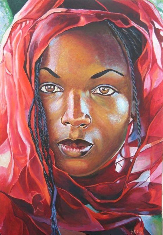 peinture femme africines recherche google portraits pinterest afrique peinture femme et. Black Bedroom Furniture Sets. Home Design Ideas