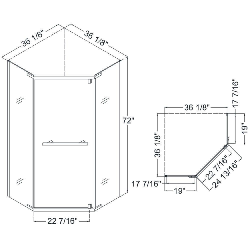 Neo Angle Shower Bases Neo Angle Shower Small Bathroom With