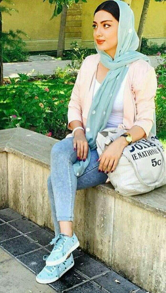 caterpillar shoes tehran girls hijab with camera