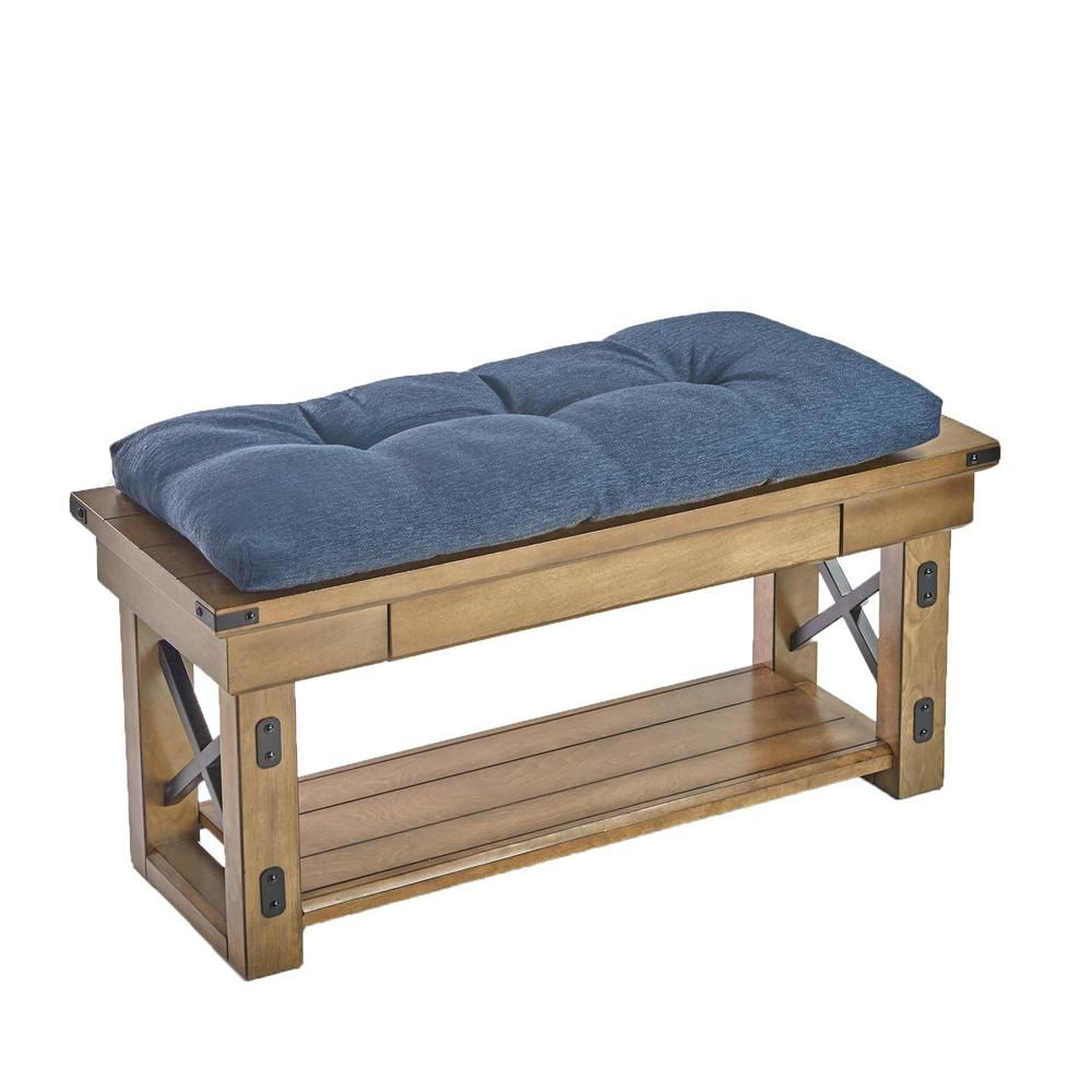 Klear Vu Corp The Gripper Tufted 36 In Omega Indigo Universal Bench Cushion Blue Bench Cushions Bench Cushions