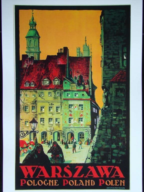 Plakat Art Deco Warszawa Norblin Reklama Art Deco Art