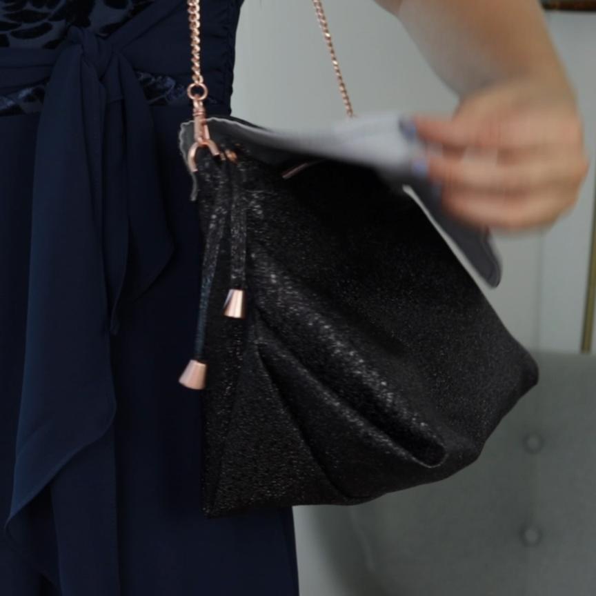 Coser un bolso de mano – patrón de costura gratuito para una bolsa de origami