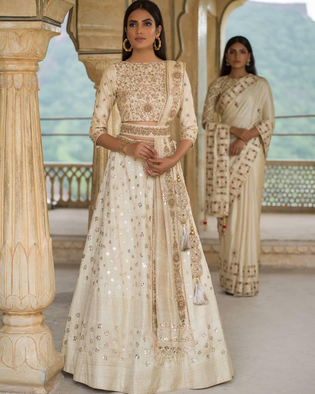 Elegnat White ! #lehenga #designer #bridal #indian