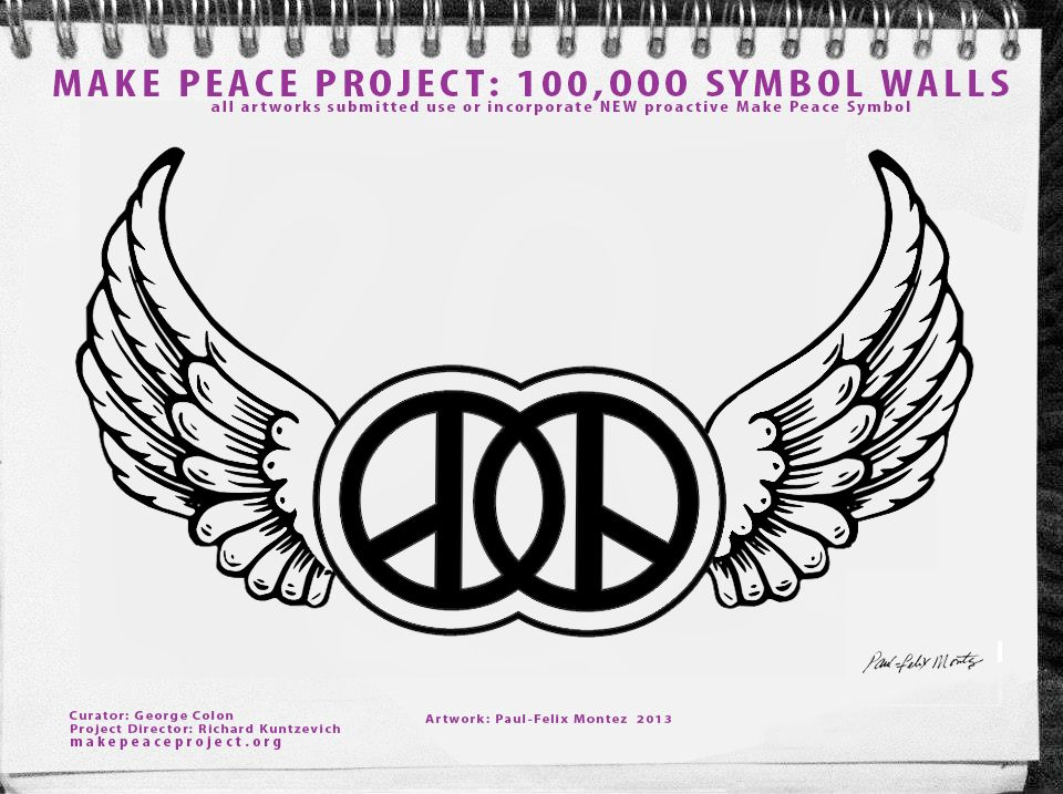 MAKE PEACE PROJECT: GLOBAL movement: 4000 NYC street artists major art exhibit, walls etc.