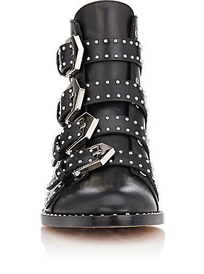 c85179a51f Givenchy Studded Buckle-Strap Ankle Boots - Boots - 504018907