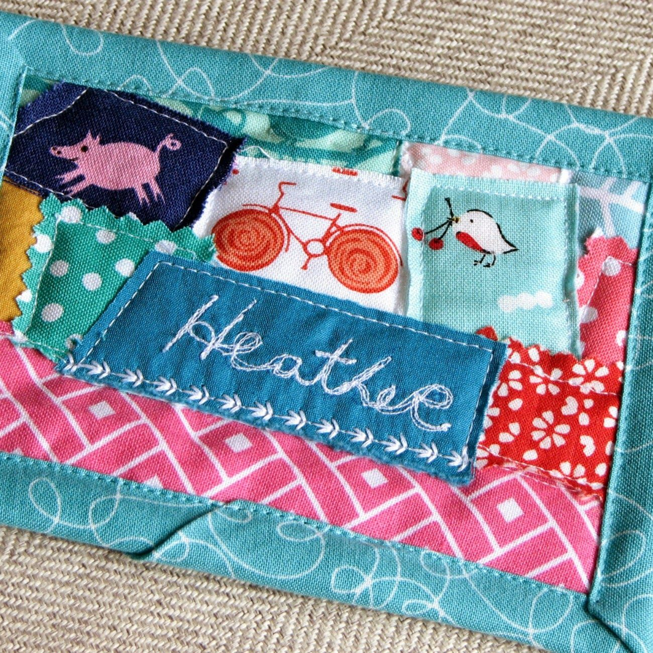 Quilted name tag for modern quilt guild | Modern Parti Quilts ... : quilting name tags - Adamdwight.com