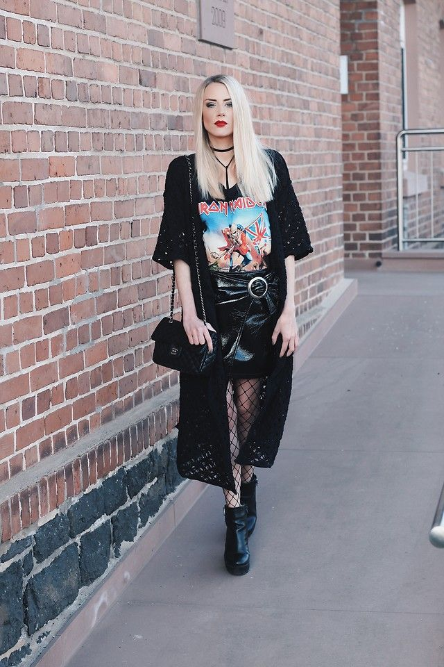Iron Maiden x Fishnet Tights (by Laura Simon)