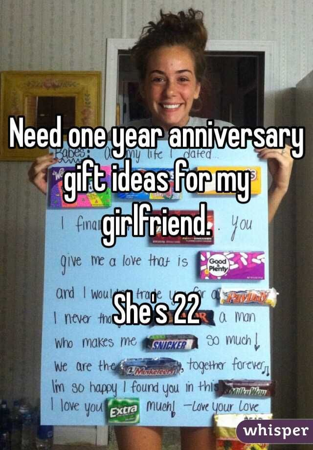 anniversary gifts for girlfriend ideas one year