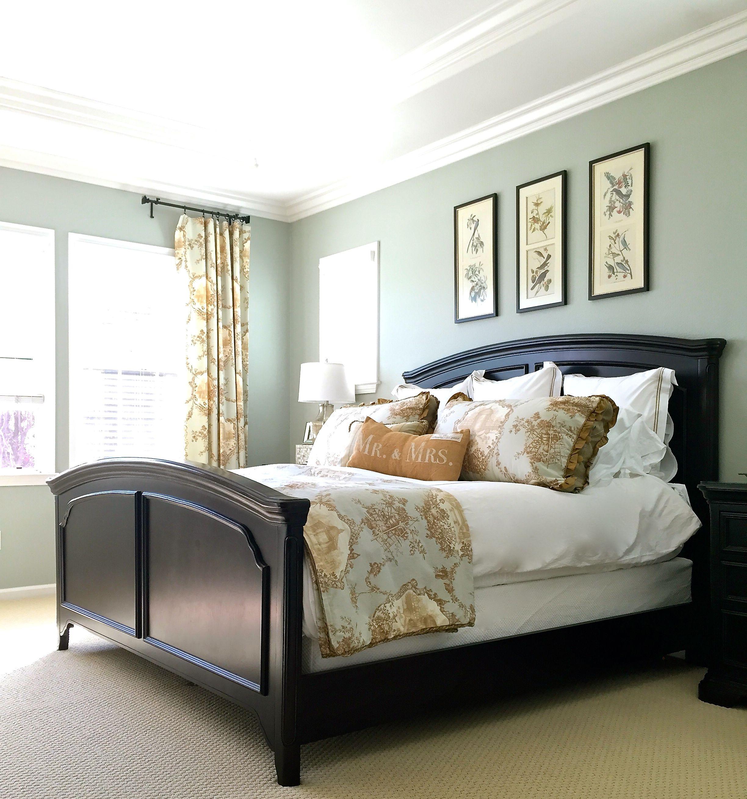 Master Bedroom Reveal with Ballard Designs   Green master