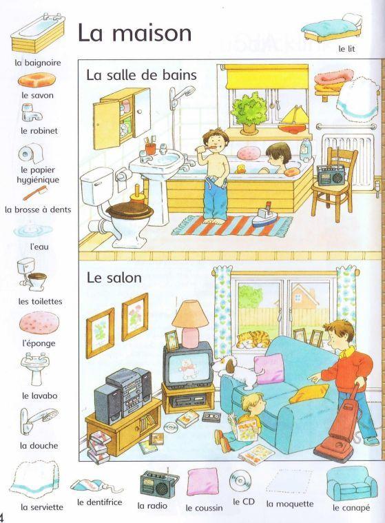 Vocabulaire la maison maison logement pinterest for Anglais vocabulaire maison