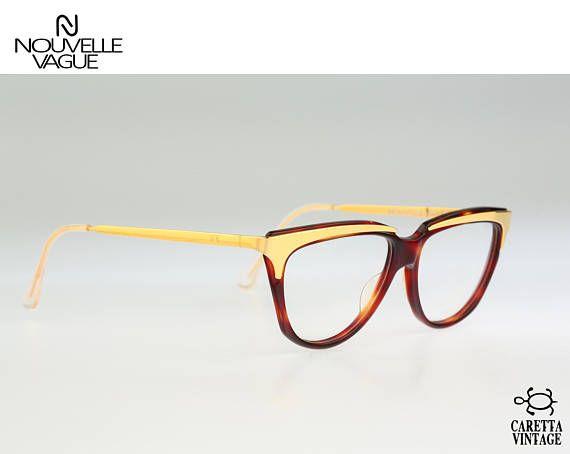 Nouvelle Vague S 114 Helen 52, vintage cat eye eyeglasses, 80s optical frame, rare and unique / NOS