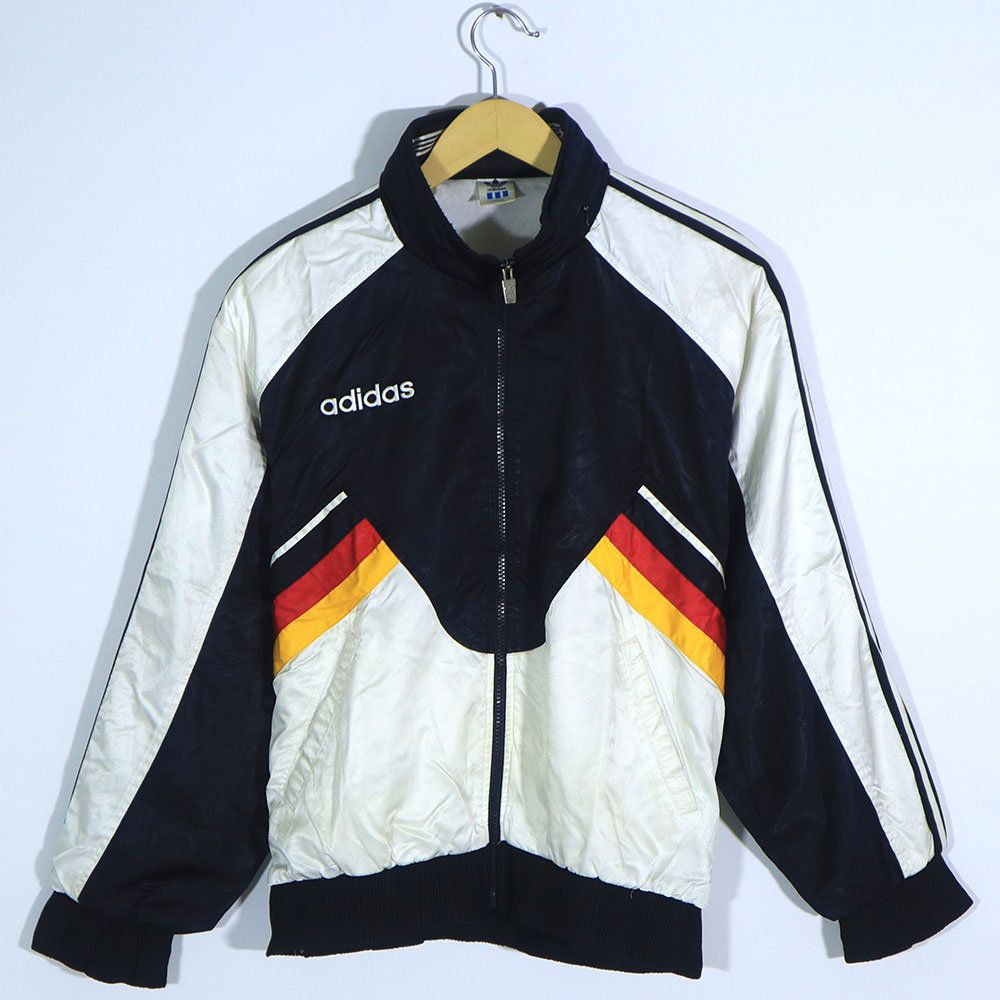 Rare Vintage 80s 90s Adidas Germany Flag Multi Color Black White Red Yellow Colorway Track Jacket Adidas Deutschland Black White Red Track Jackets Germany Flag [ 1000 x 1000 Pixel ]