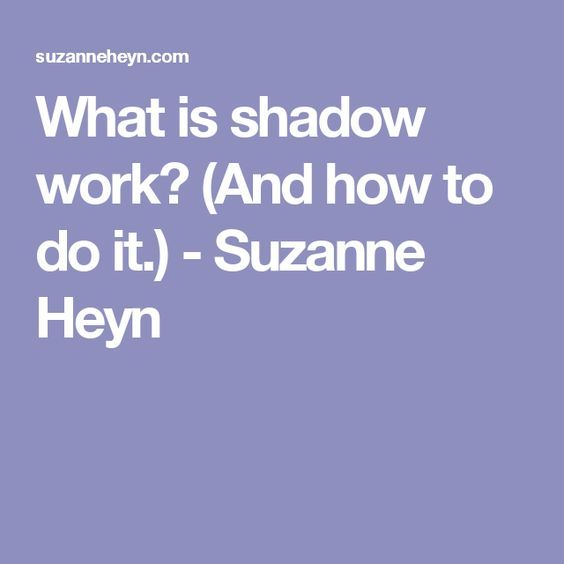 What Is Shadow Work? (And How To Do It