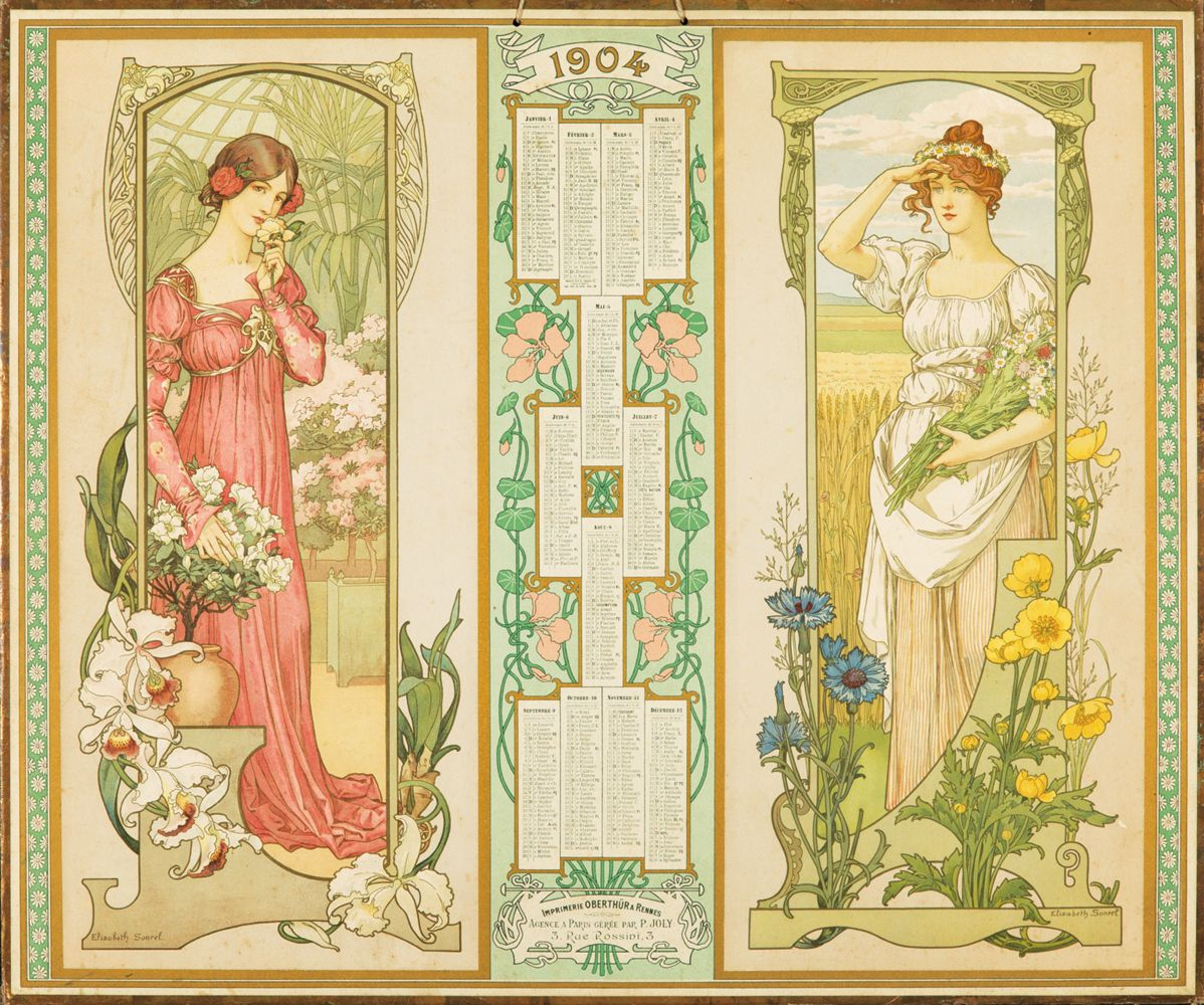 Élisabeth Sonrel 1904 calendar