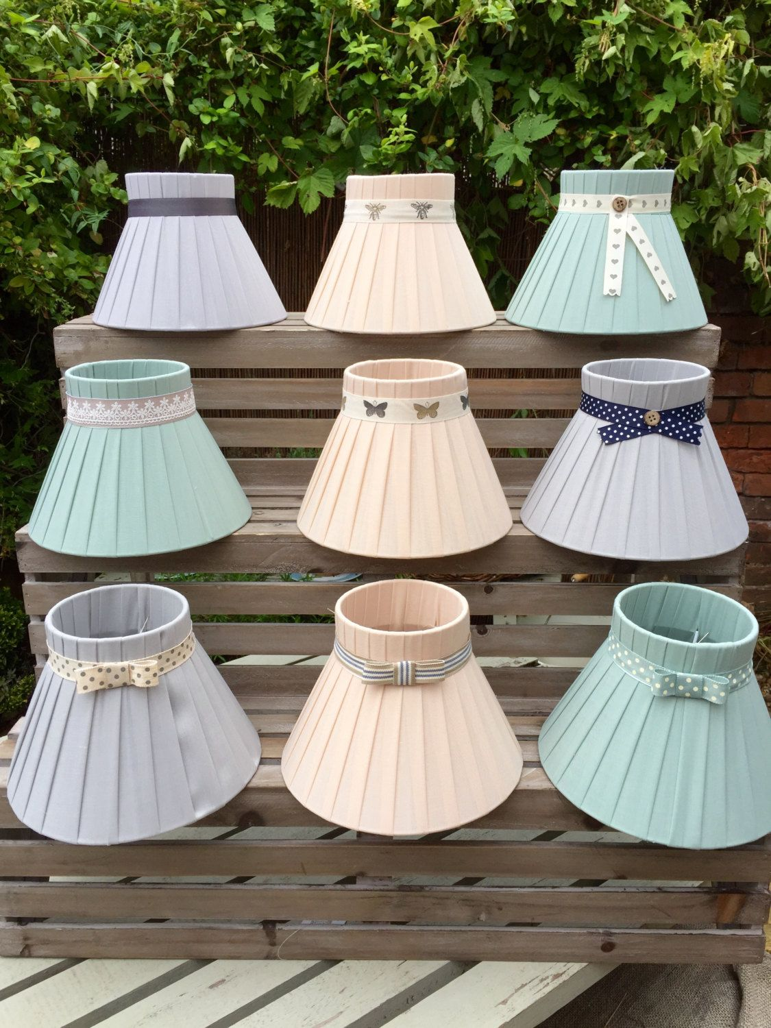 French style linen ribbon lampshade shabby chic by french style linen ribbon lampshade shabby chic by oscarfrenchlinen on etsy aloadofball Image collections