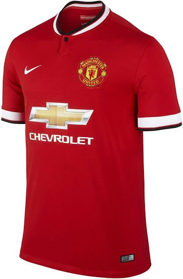 cb3c50b3a Manchester United 14-15 Home and Away Kits - Footy Headlines