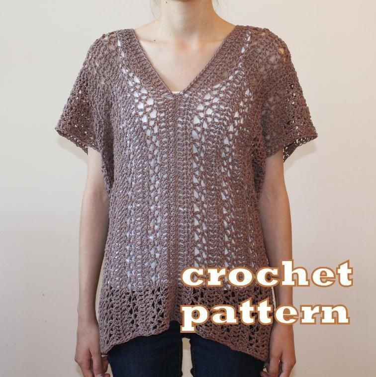 Vanier V Neck Tunic Craftsy Free Crochet Patterns Pinterest