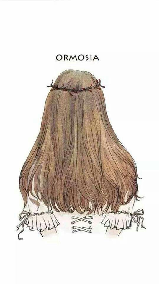 Follow Tớ Pinteres Minh Ri Menggambar Rambut Gambar Rambut Gadis Animasi