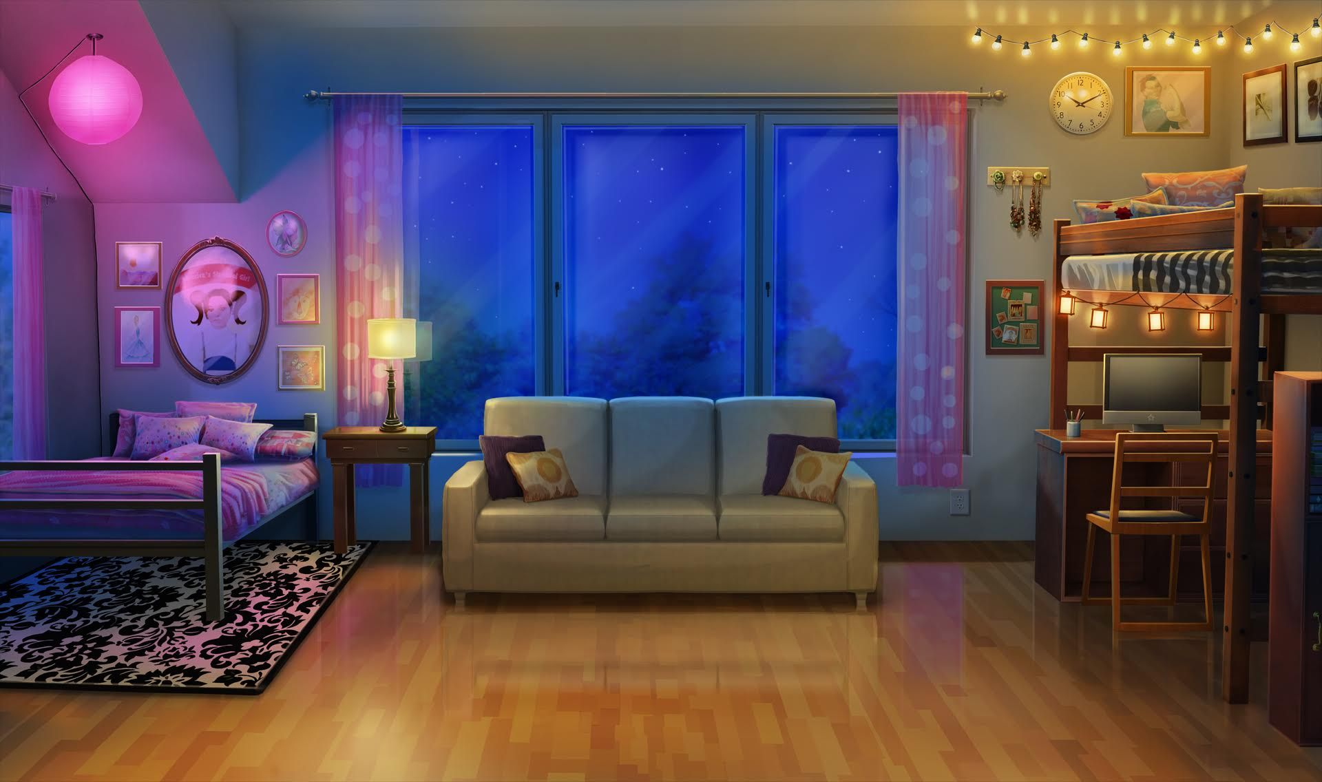 Int Bristols Dorm Room Night Episode Episode Backgrounds