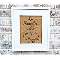 """Family name sign, Italian sayings, La Famiglia e Per Sempre, """"Family Forever"""", personalized #lafamilia"""