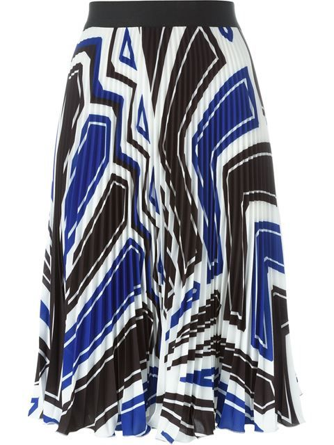 4b64e3b0f3ed Shop P.A.R.O.S.H. abstract print pleated skirt in Mengotti from the world's  best independent boutiques at farfetch.com. Shop 400 boutiques at one  address.