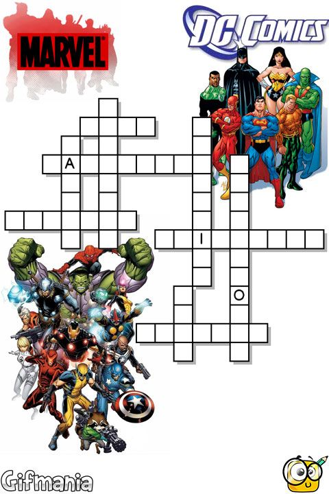 photograph regarding Superhero Crossword Puzzles Printable called An remarkable crossword with the most straightforward superheroes towards
