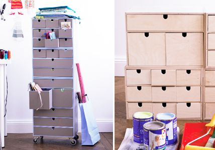 Arbeitszimmer einrichtungsideen ikea  Der individuelle Schubladenturm - Einrichtungsideen fürs ...