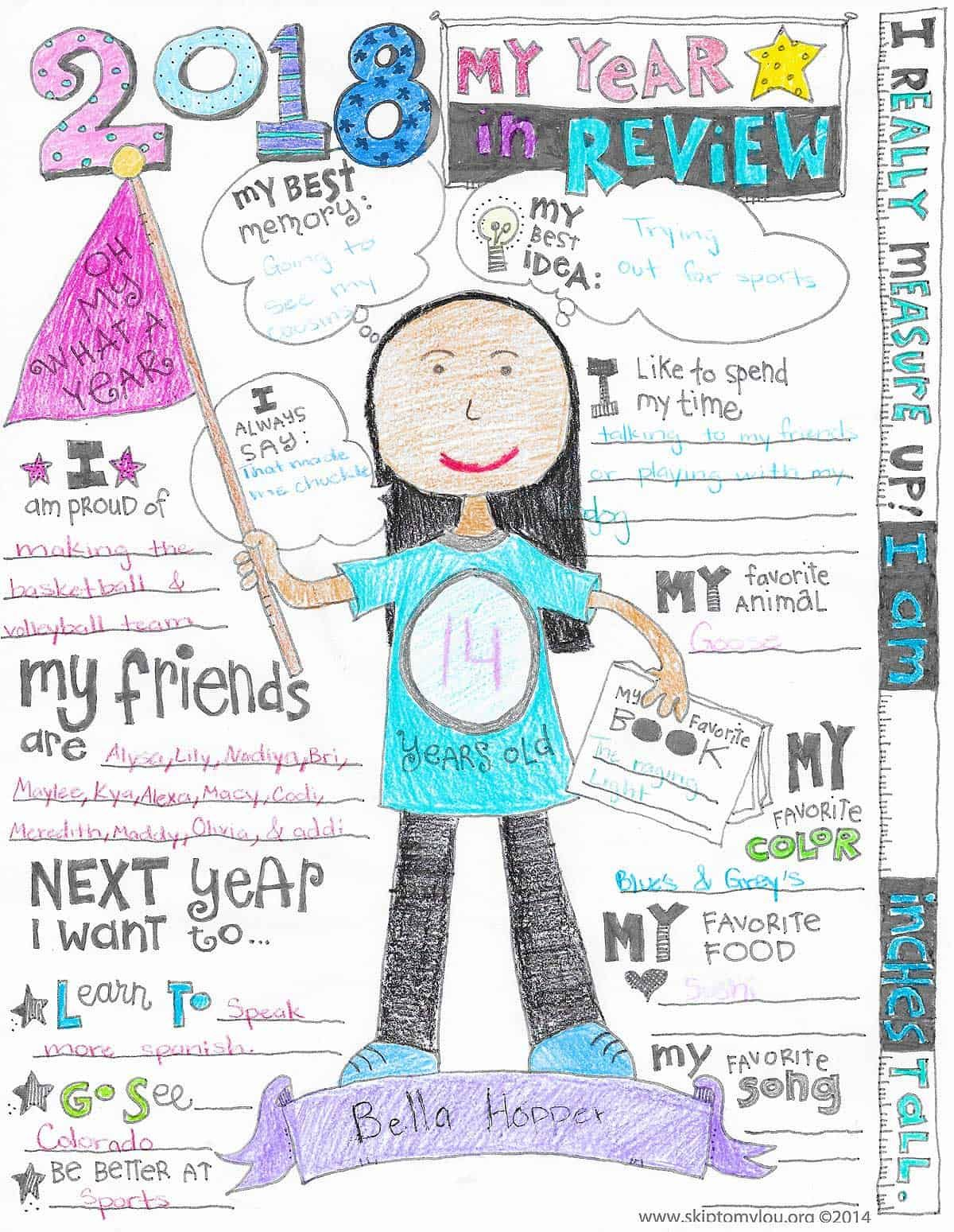 Year In Review Coloring Page Updated