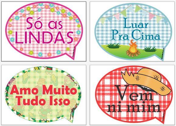 Plaquinhas Divertidas Para Festa Junina Festa Junina Crafts