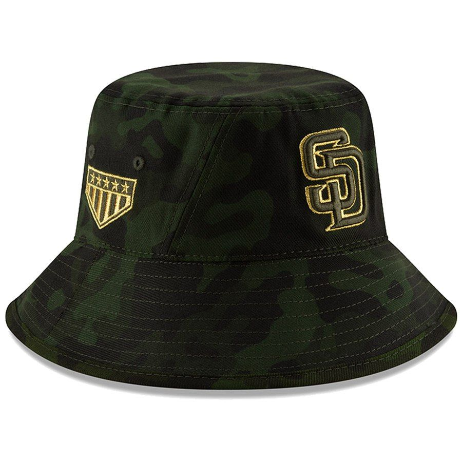 pretty cool genuine shoes reasonable price San Diego Padres New Era 2019 MLB Armed Forces Day Bucket Hat ...