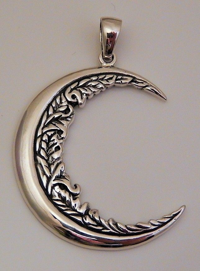 Moon flower pendant 925 sterling silver pendant wiccan pagan magick moon flower pendant 925 sterling silver pendant wiccan pagan magick moon amulet pendant mozeypictures Choice Image