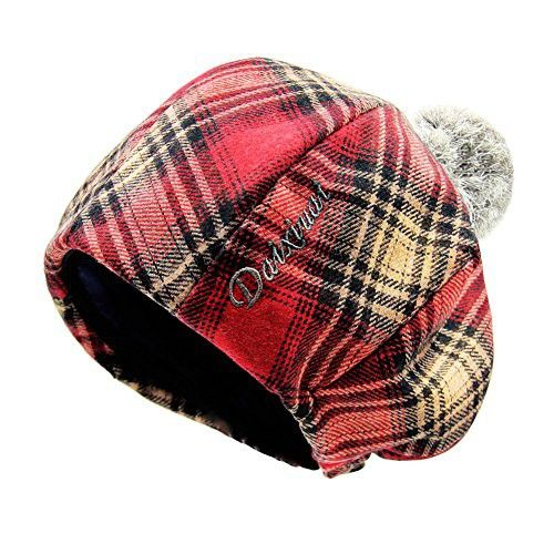 effe680facf Vintage wool hat Ladies beret  Plaid wool painters Cap Korean version of  warm in autumn and winter the octagonal Cap England-A One Size