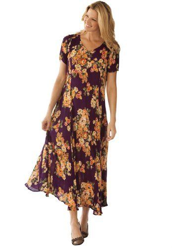Woman Within Plus Size Petite Dress In Maxi Length Floral Print, Crinkle Fabric (Black White Print,L) Woman Within,http://www.amazon.com/dp/B0080QROPU/ref=cm_sw_r_pi_dp_rJ96qb0TK4CYCEQH