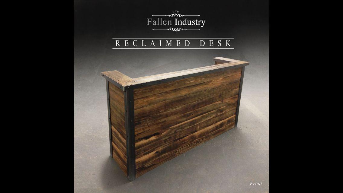 Reclaimed Reception Desk Office Ideas Pinterest