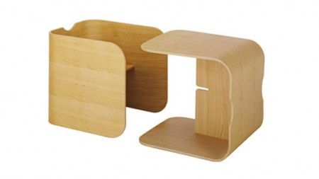 Chaise And Desk For Children Cube Lock By Habitat
