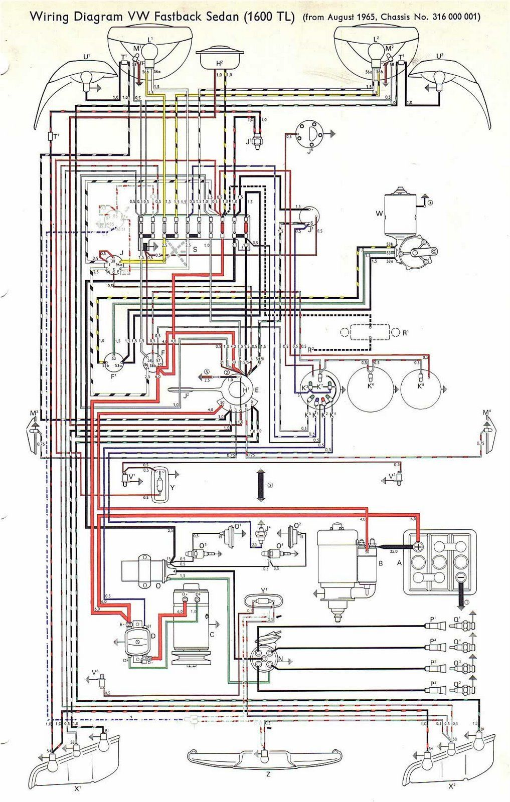 Vw 1600 Wiring Diagram Excellent Electrical House Beetle Plug Wire Fuscafatosefotos Blogspot Com Br Sistema El Trico Do Fusca Tl Rh Pinterest Pdf Type 3 Squareback Volkswagen