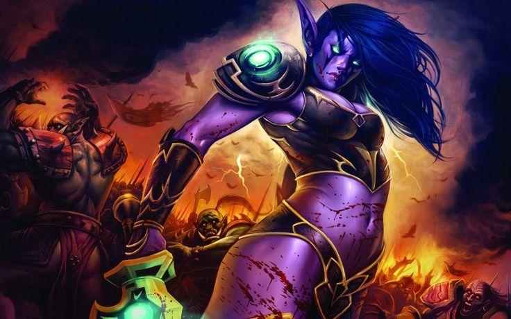 Wow Night Elf Female Wallpaper Christopher Figueiredo 1 Year Ago Night Elf World Of Warcraft Night Elf Warcraft