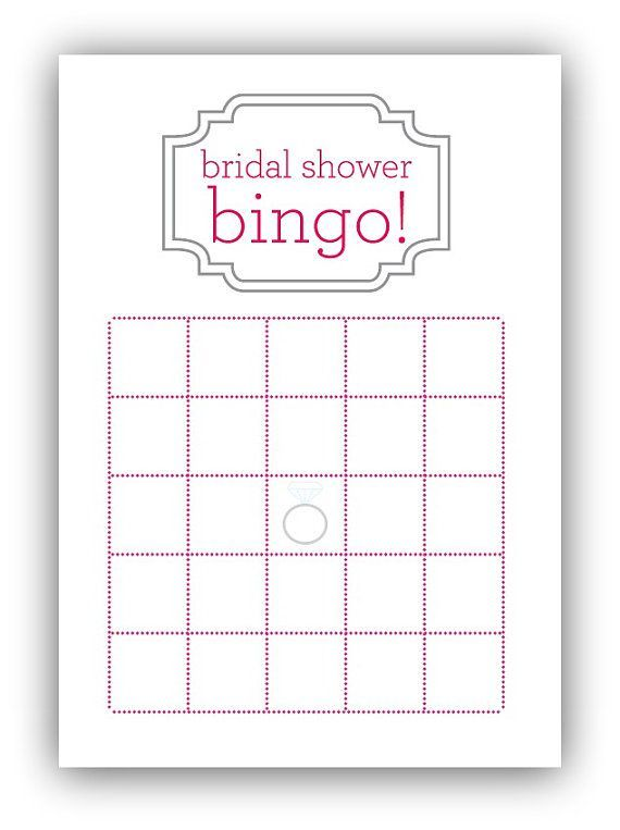 bridal shower bingo card template my posh closet pinterest bingo card template bridal. Black Bedroom Furniture Sets. Home Design Ideas