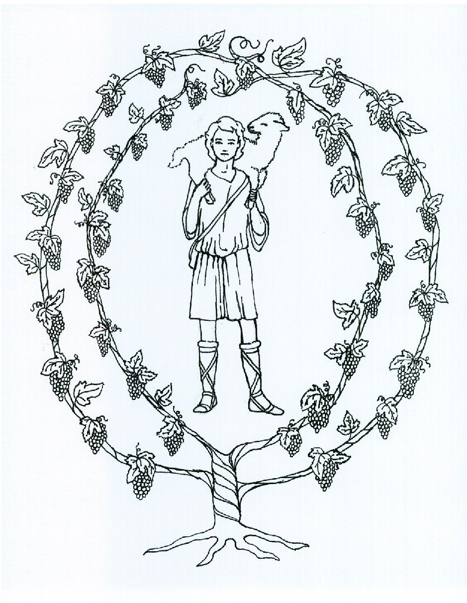 Image of the good shepherd and the true vine for a CGS